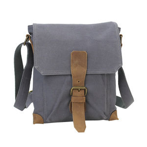 Cotton Canvas Distress Looking Shoulder Bag CS13BG